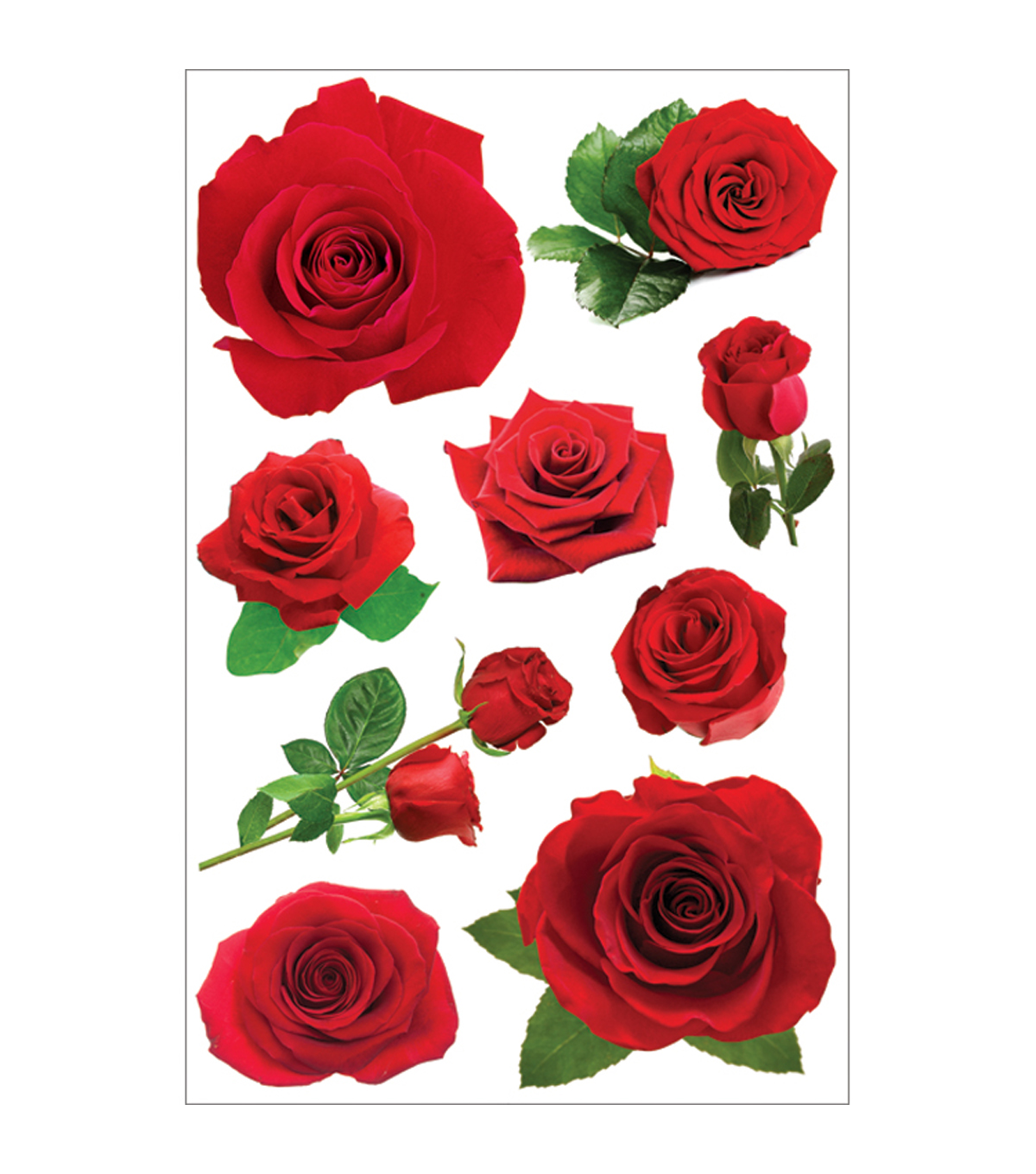 Paper House 3D Stickers-Red Roses