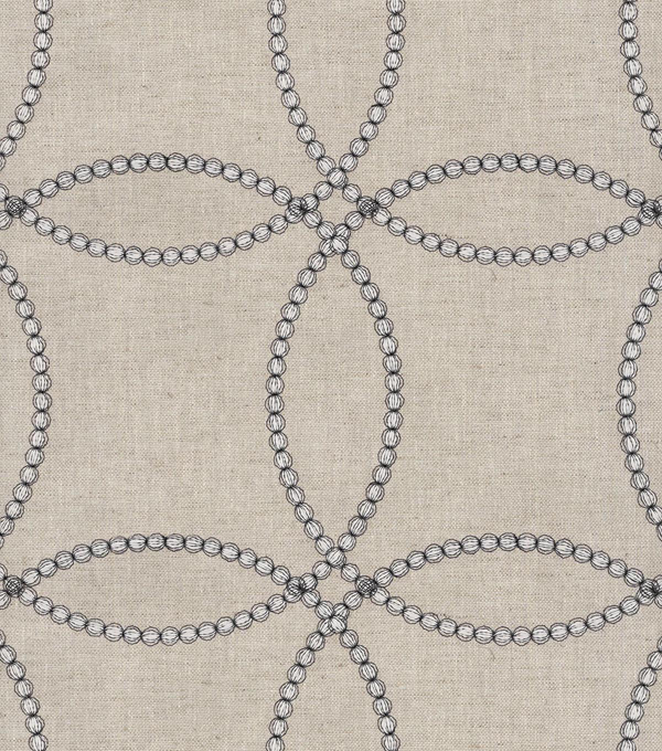 "P/K Lifestyles Upholstery Fabric 54""-String Along Emb/Gunmetal"