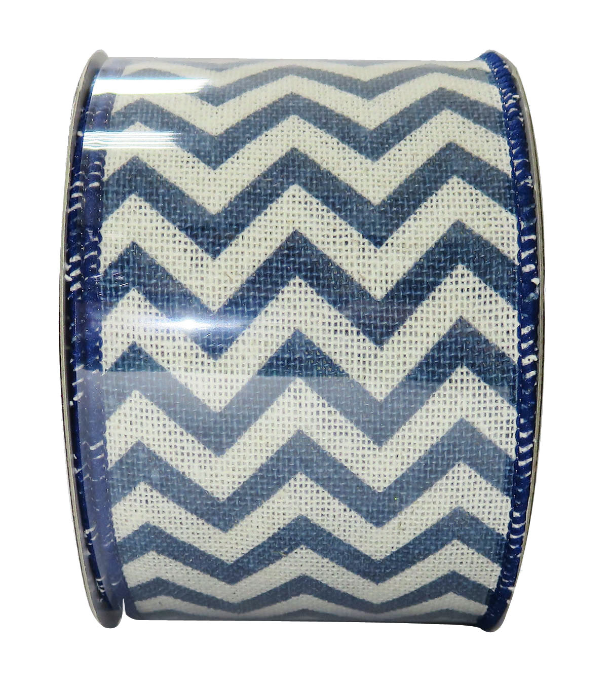 Decorative Ribbon 2.5\u0027\u0027 X 15\u0027-Indigo Chevron