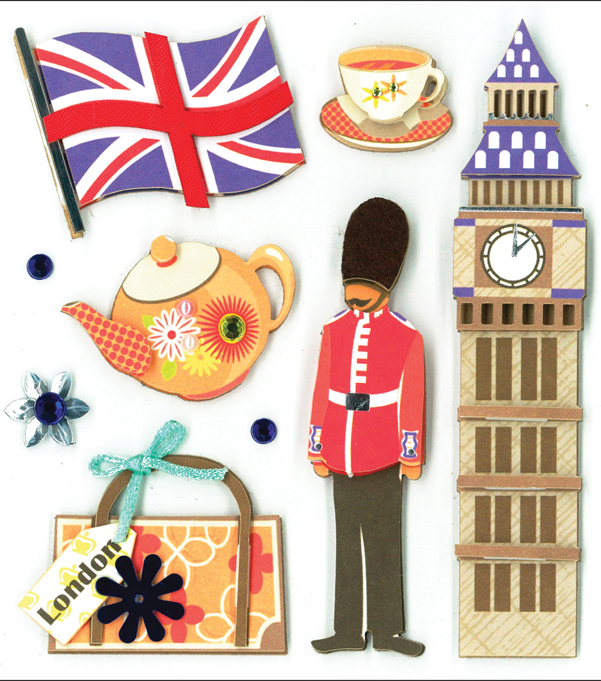 K&Company Dimensional Embellishments-Sights of London