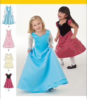Simplicity Patterns Us1074Aa-Simplicity Toddlers\u0027 And Child\u0027S Dress In Two Lengths-1/2-1-2-3