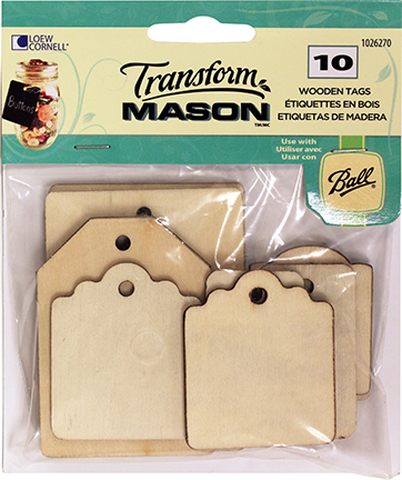 Wood Tags Rectangles 10 Ct