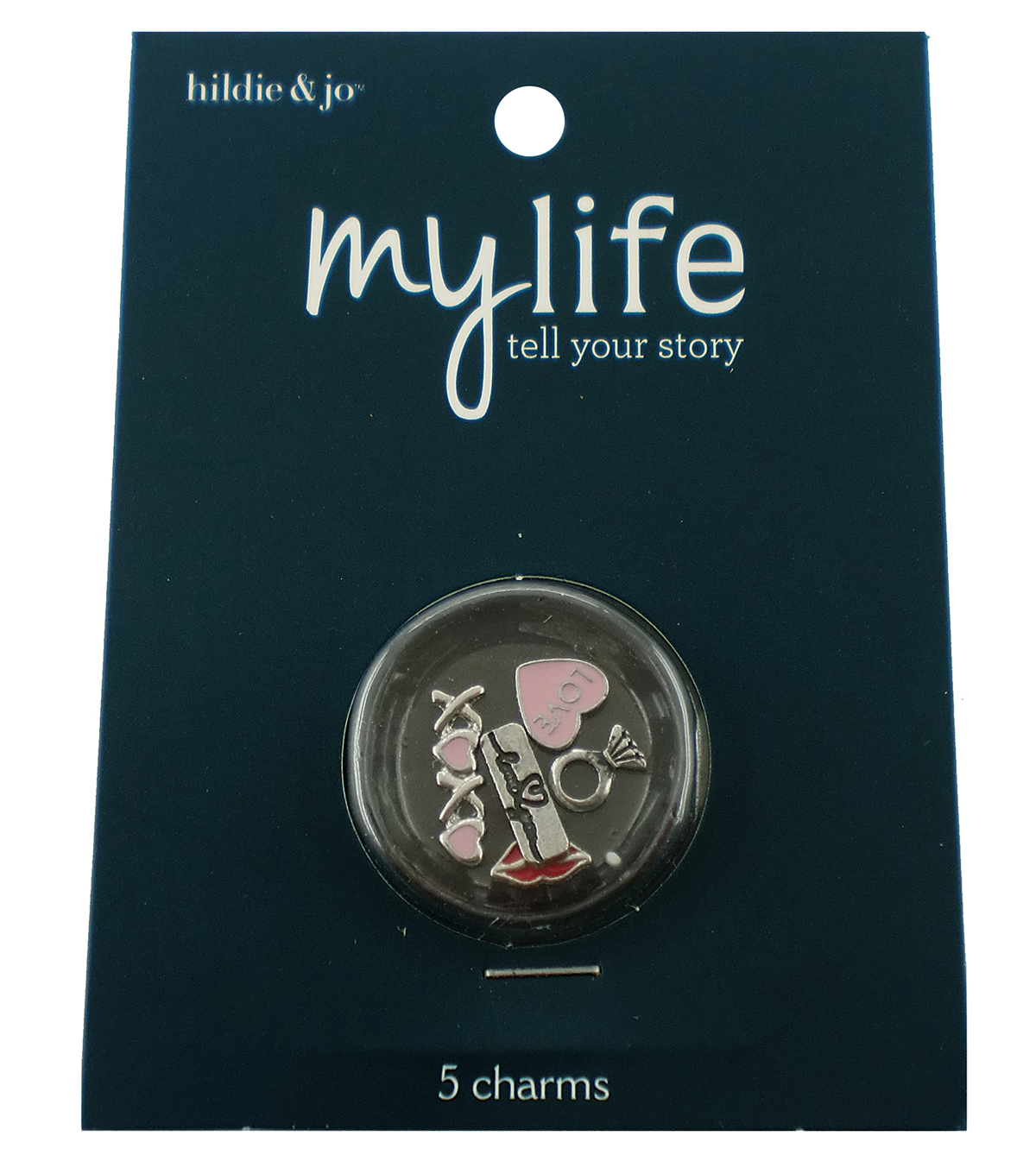 hildie & jo™ My Life 5 Pack Love Silver Locket Charms