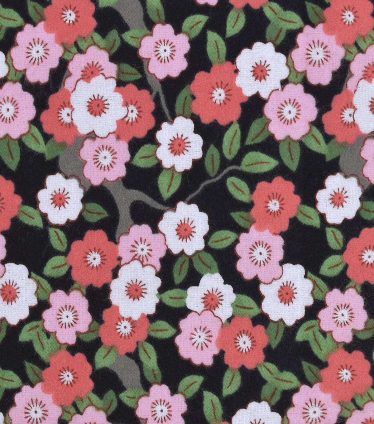 Snuggle Flannel Fabric 42\u0022-Sunset Ditsy Floral