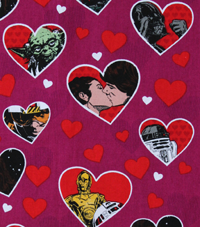 star wars cotton fabric 43u0022 valentine hearts