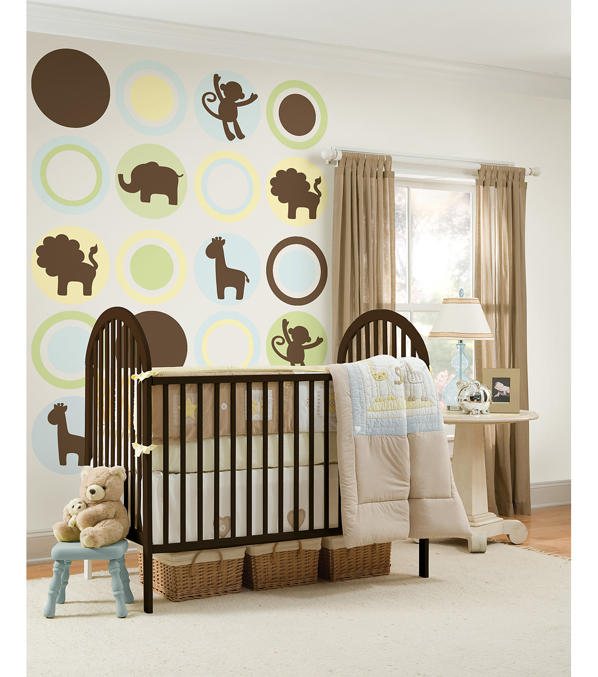 Wall Pops Espresso Brown Jungle Silhouettes Decals