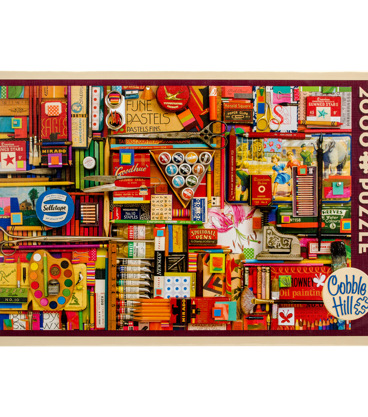 Jigsaw Puzzle 2000 Pieces 40\u0022X27\u0022-Vintage Art Supplies