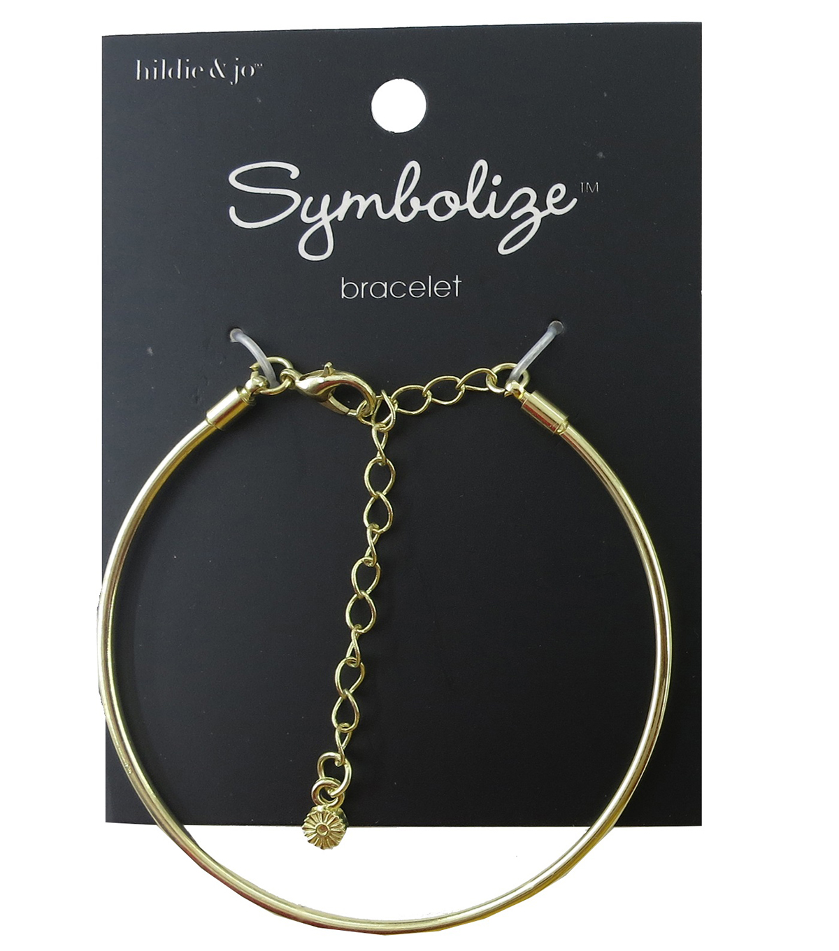 hildie & jo™ Symbolize 7\u0027\u0027 Gold Bangle Bracelet