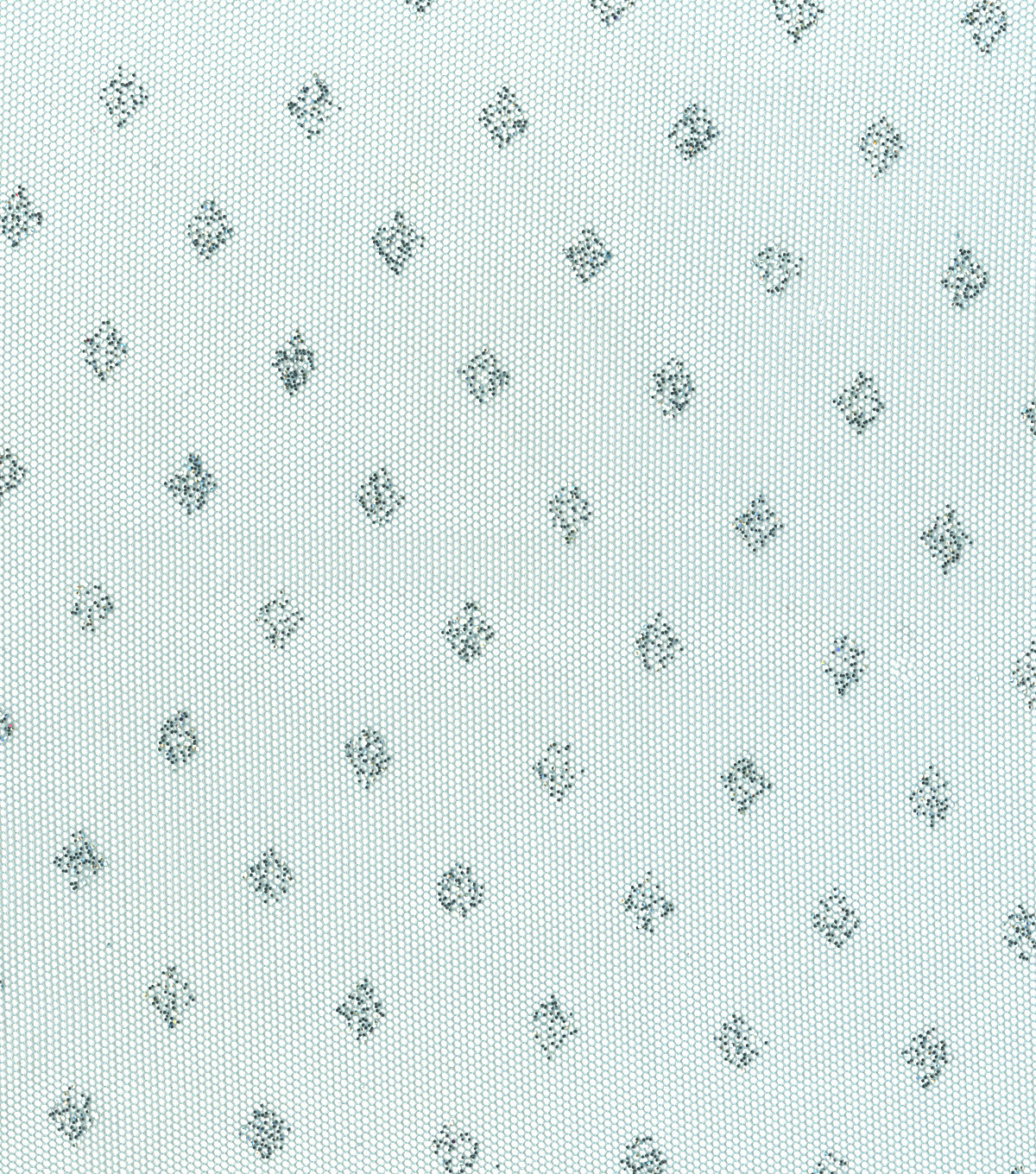 All That Glitters Diamond Dot Mesh Fabric-Clearwater