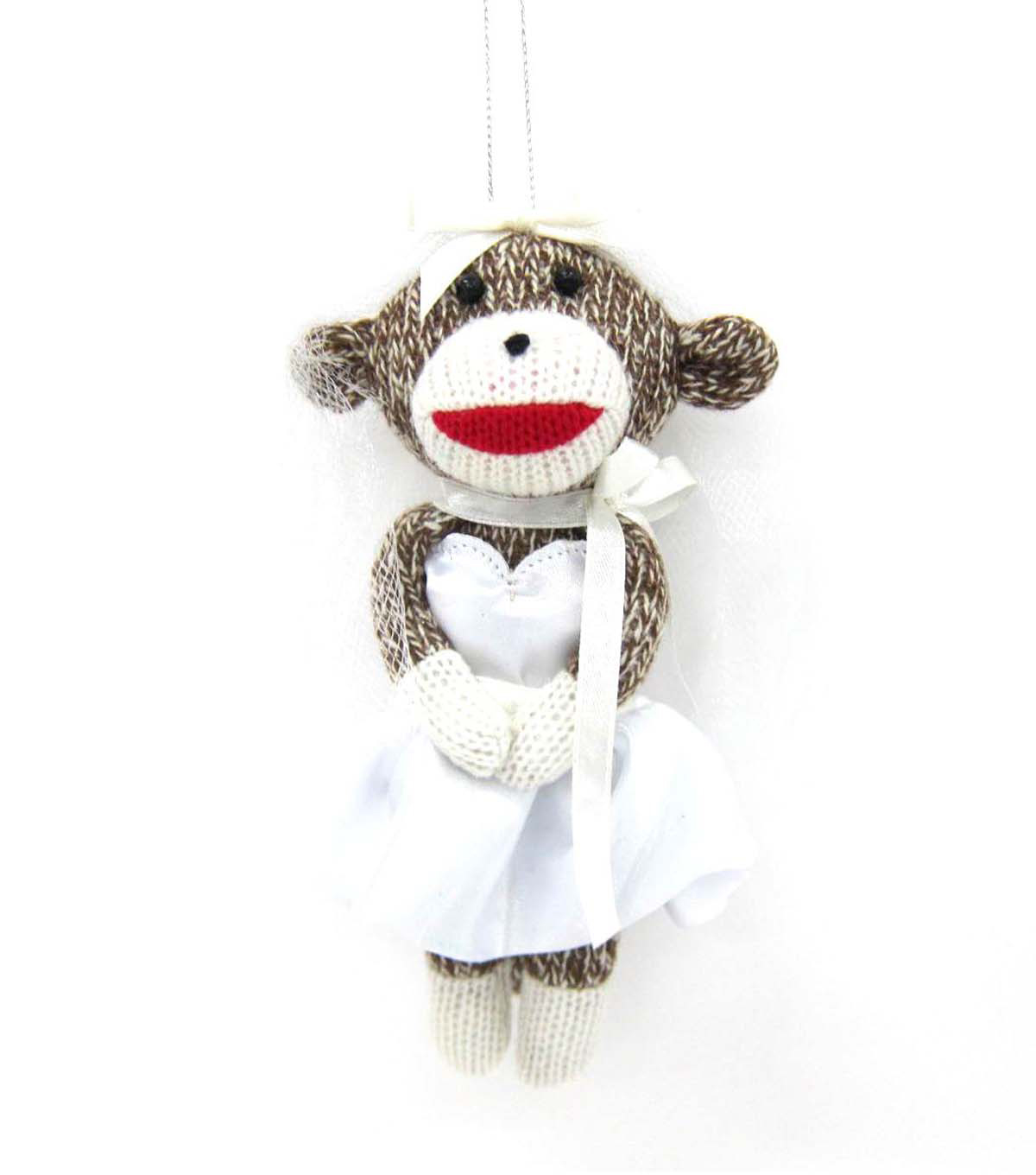 Maker's Holiday Sock Monkey Bride Ornament