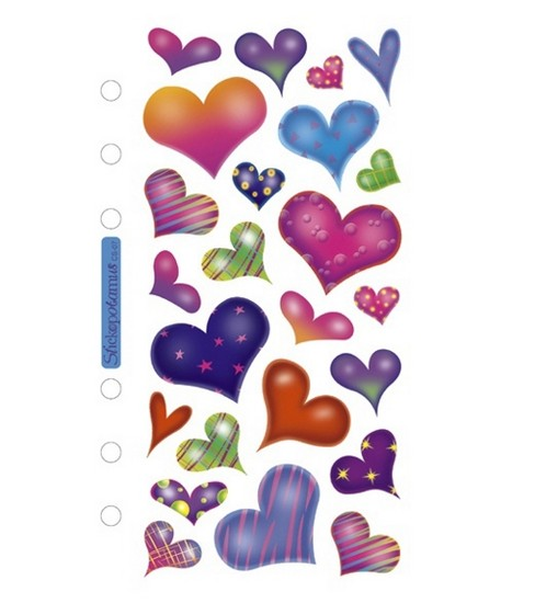 Sticko Stickers-Sparkle Hearts