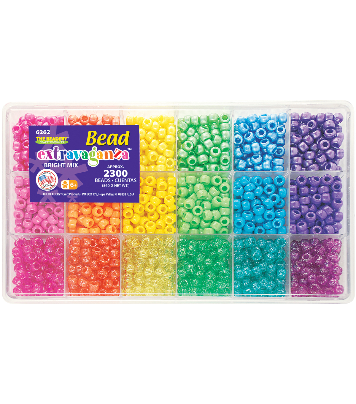 Bead Extravaganza Bead Box Kit 19.75oz/Pkg-Brights