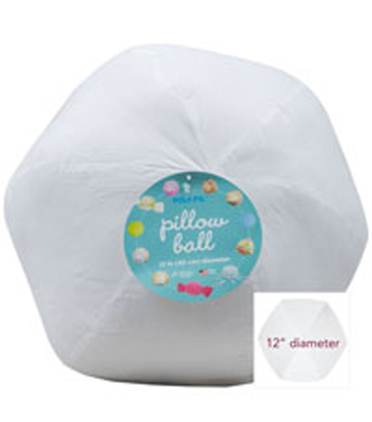 "100% Polyester Filled ""Downlike"" Pillow - 12"" Diameter"