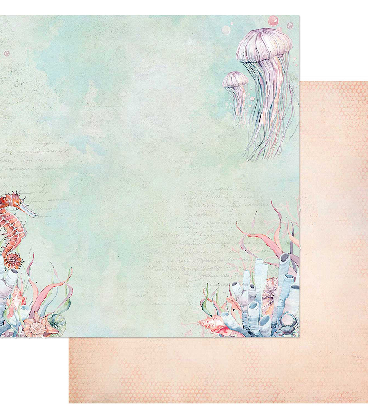 Sand & Sea Double-Sided Cardstock 12\u0022X12\u0022-Sea Creatures
