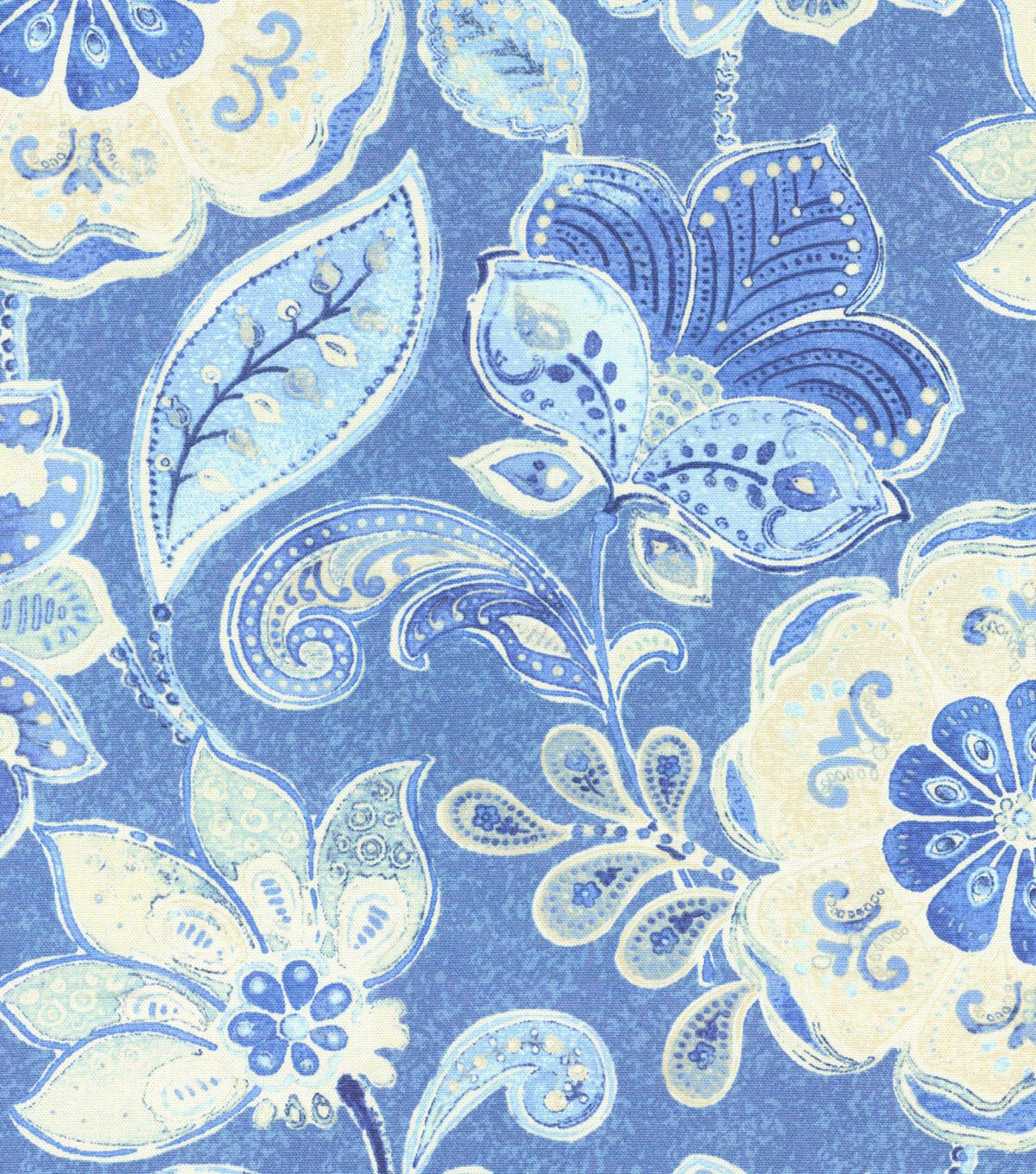 "Home Decor 8""x8"" Swatch Fabric-IMAN Home Javanese Garden Porcelain"
