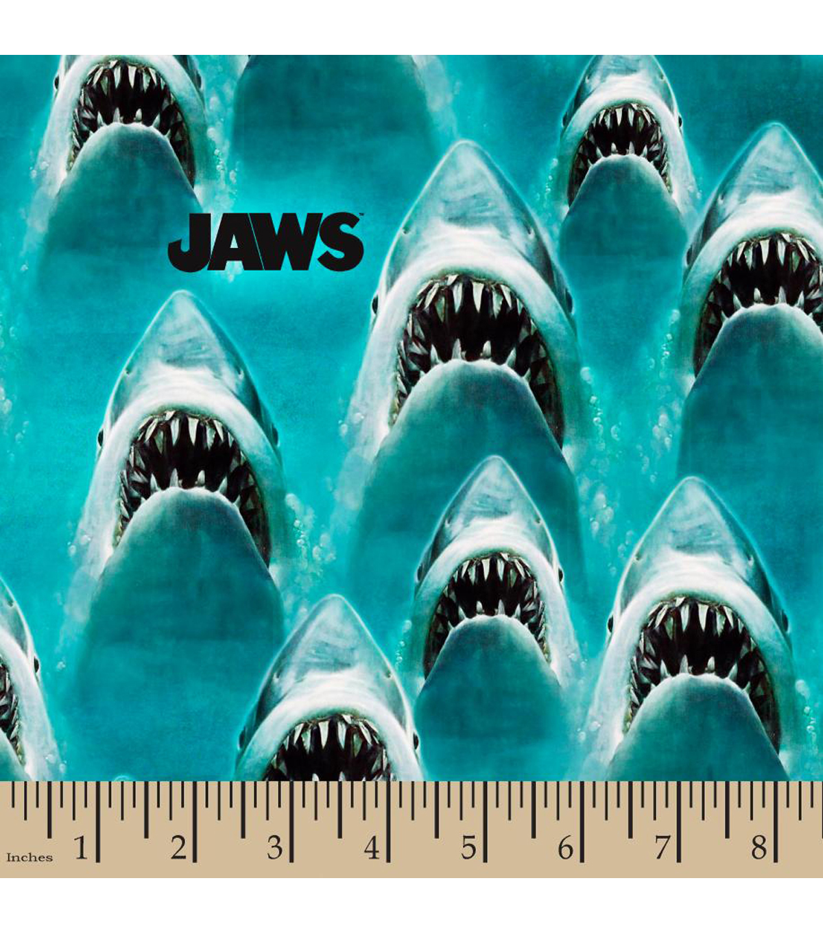 Jaws Cotton Fabric-Classic Jaws