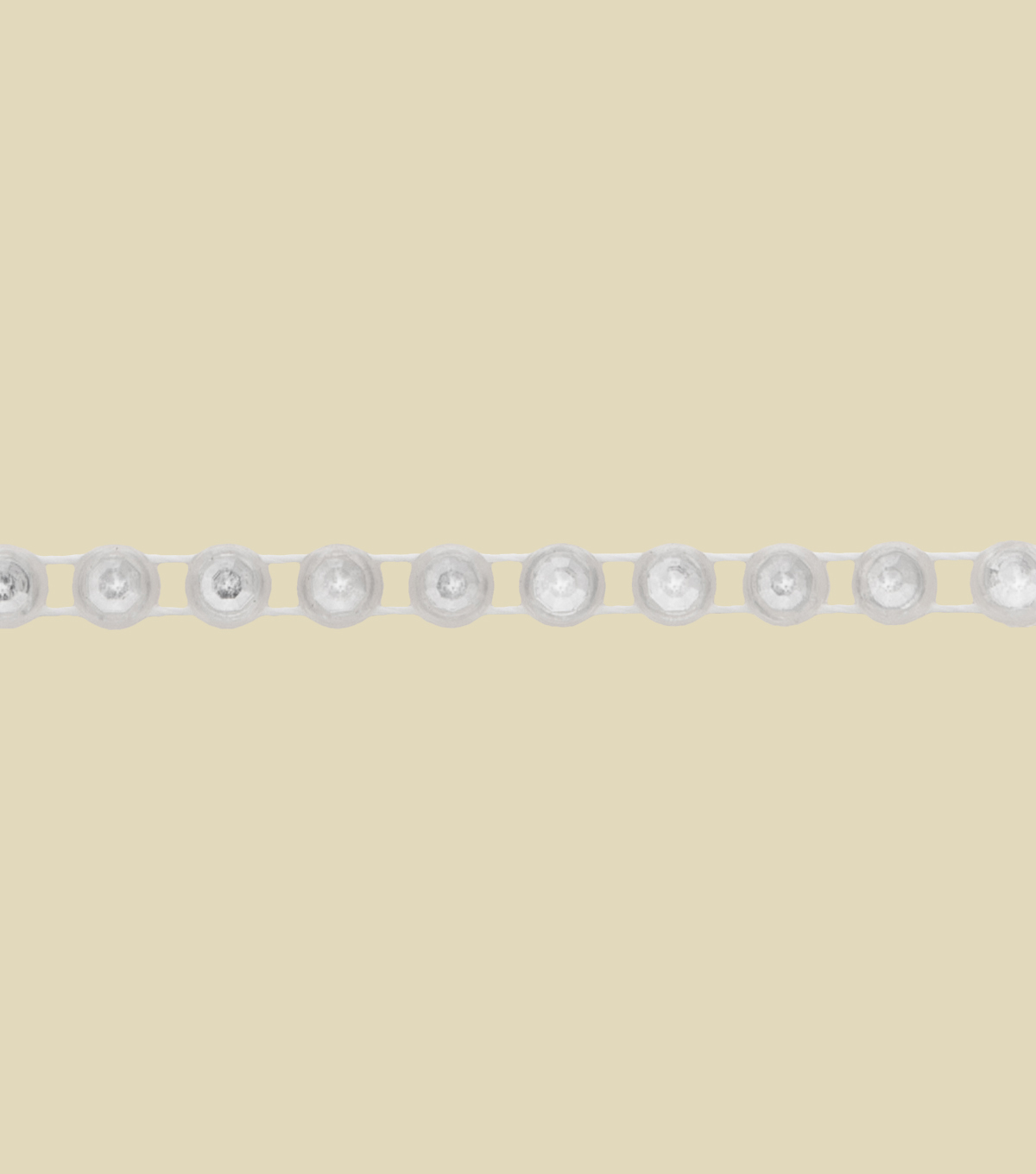 6mm Fused Pearl White Apparel Trim