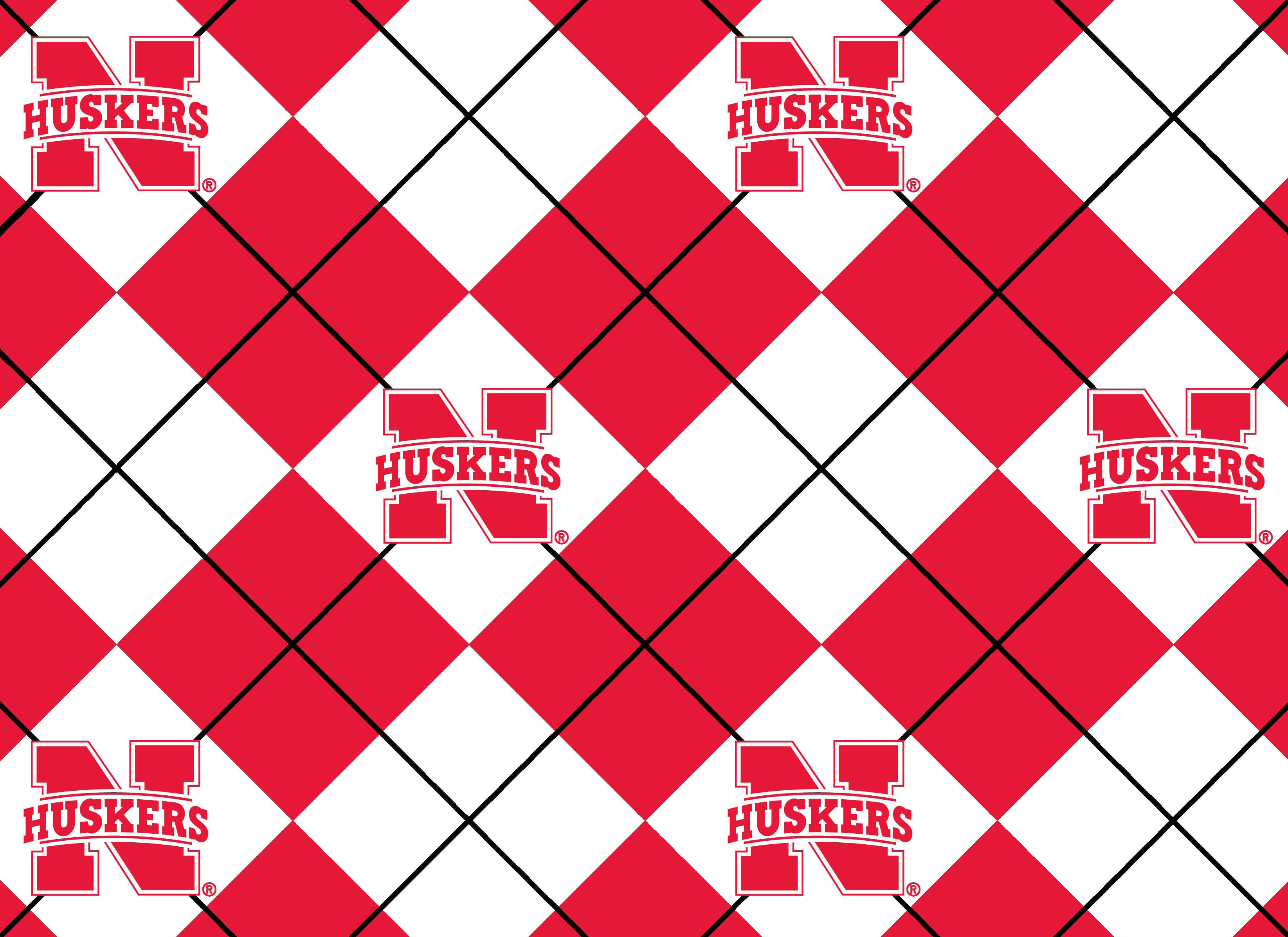"University of Nebraska Cornhuskers Fleece Fabric 60""-Argyle"