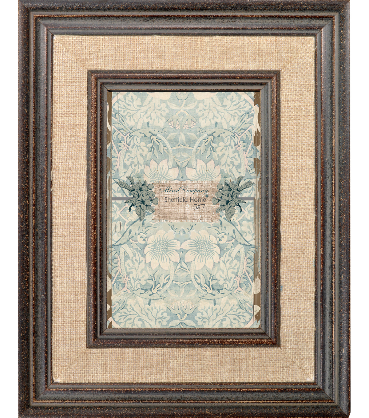 Hudson 43™ Mixed Company 5x7 Linen Frame-Brown Trim