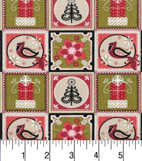 Maker\u0027s Holiday Cotton Fabric 43\u0022-Christmas Patches