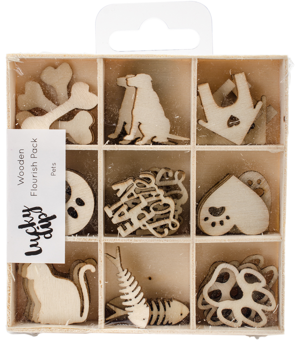 Themed Mini Wooden Flourishes-Pets