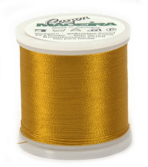 Madeira Rayon Thread Refills Gold/Maple