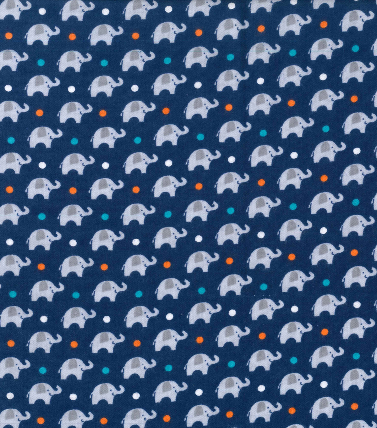 "Nursery Flannel Fabric 42""-Navy Dream Big Elephant"