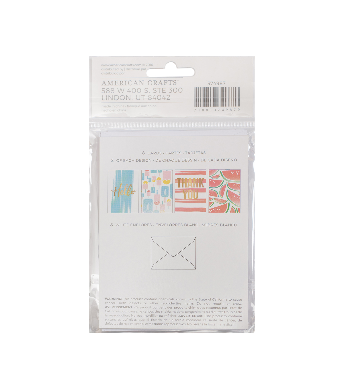 American Crafts™ Memory Planner Cards & Envelopes Pack