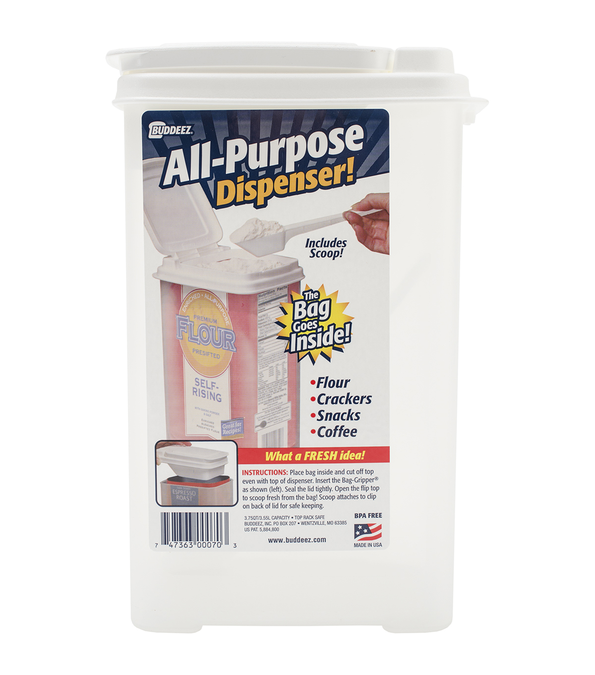 Buddeez All Purpose Flour Dispenser With Scoop