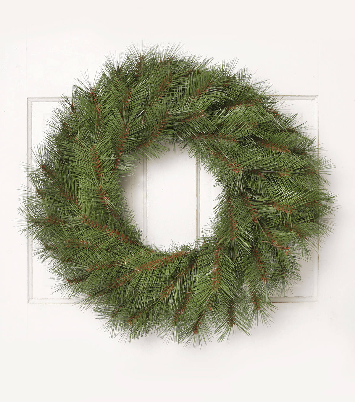 Blooming Holiday 24\u0027\u0027 Long Needle Wreath-Green