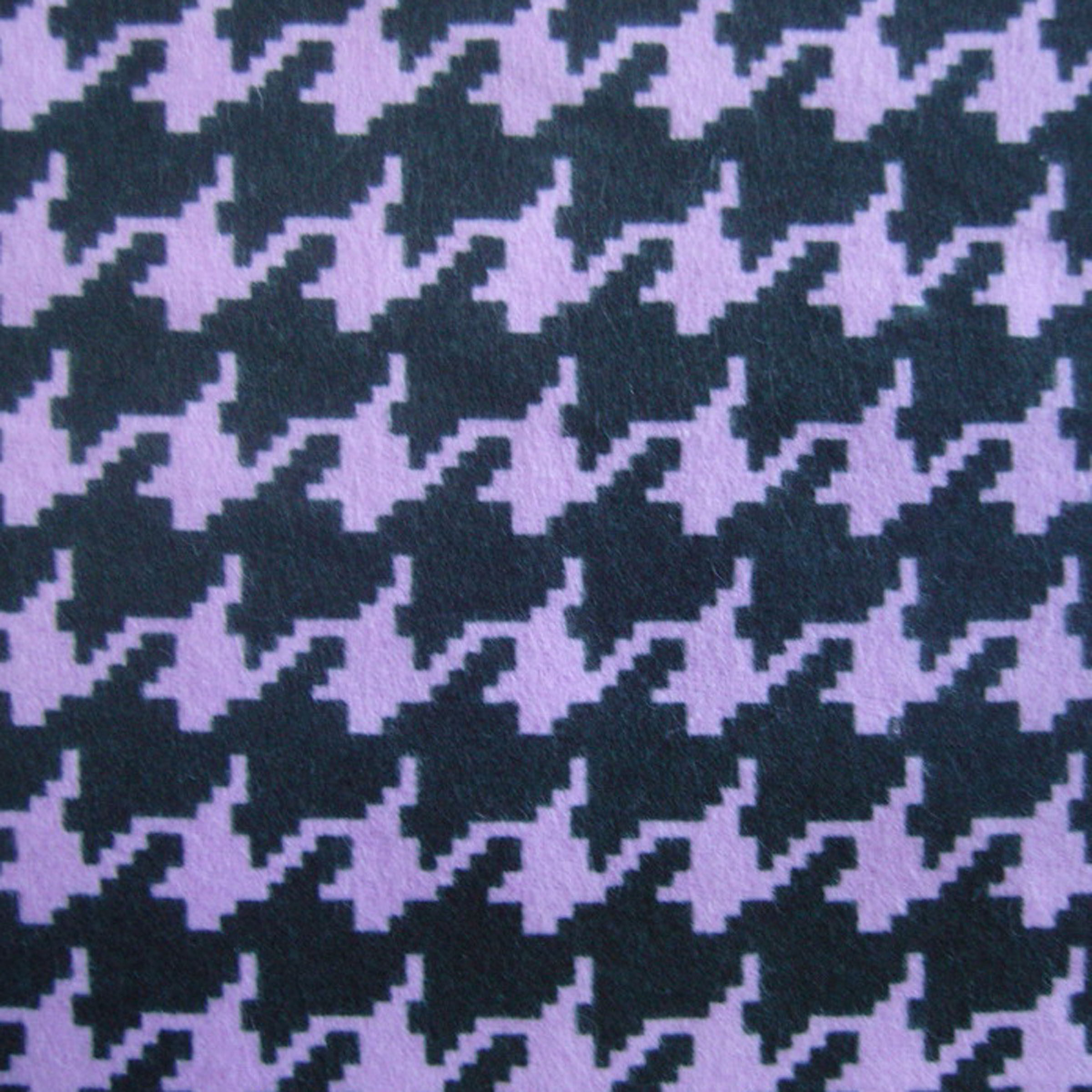 Snuggle Flannel Fabric- Digital Houndstooth Purple