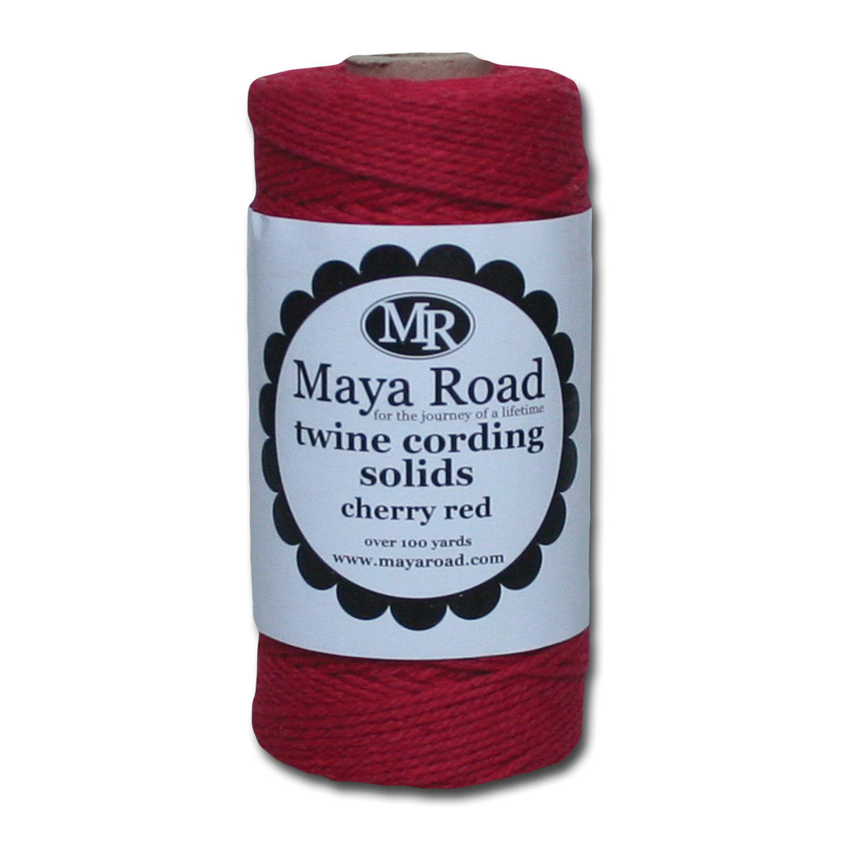 Cherry Red-twine Cord 100y/roll