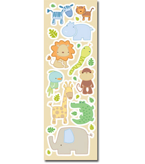 Sandylion® Foam Stickers-Jungle Animal