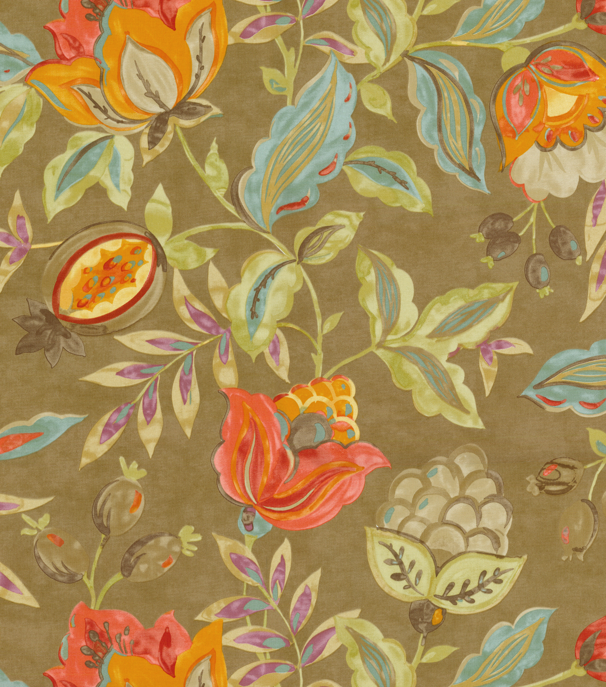 Waverly Print Fabric 54\u0022-Modern Poetic/Flaxseed