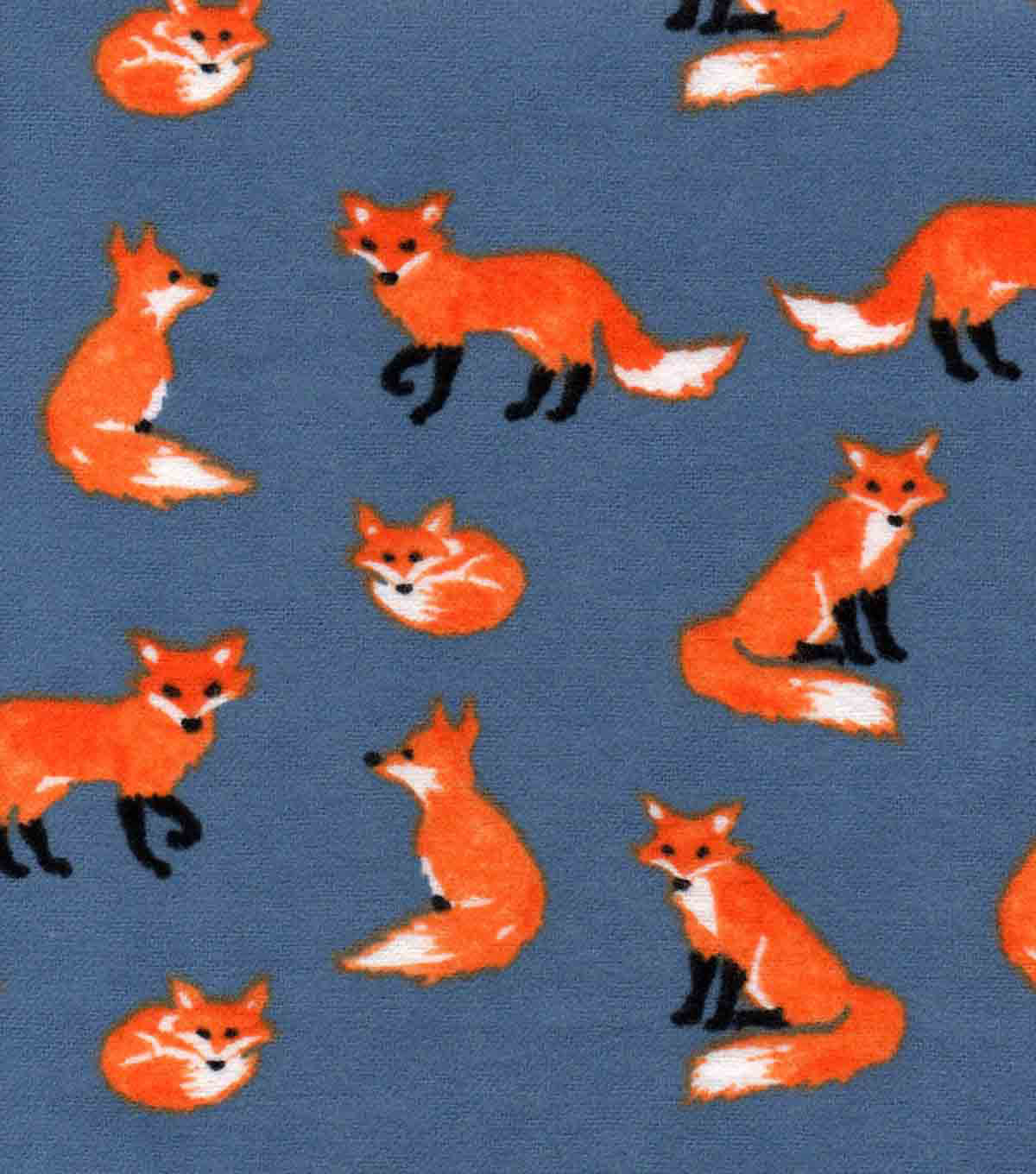 Snuggle Flannel Fabric 42\u0022-Watercolor Foxes