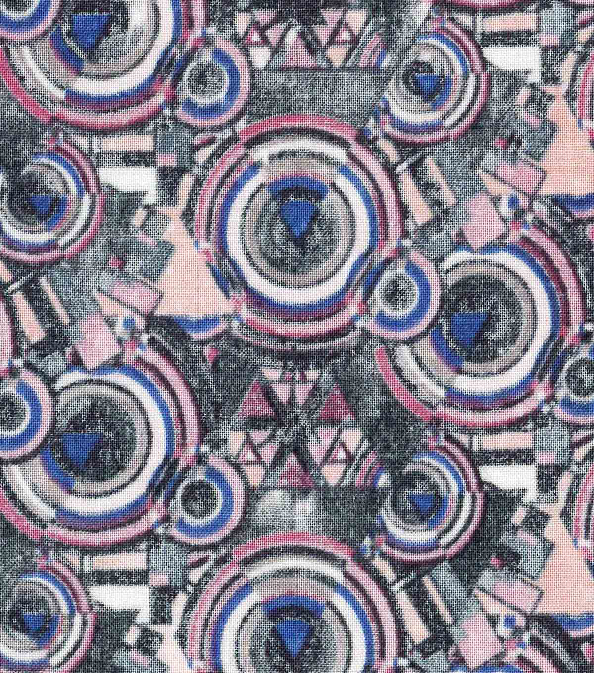 Modern Cotton Fabric 43\u0027\u0027-Galaxy Circles on Mauve