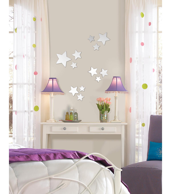 wall pops stars peel and stick mirror art  piece set  joann  - null null