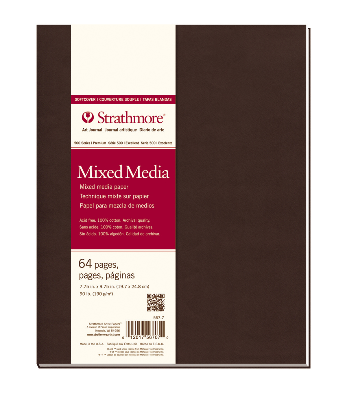Strathmore Soft Cover Journal Book With 64 Pages 7.75''x9.75''