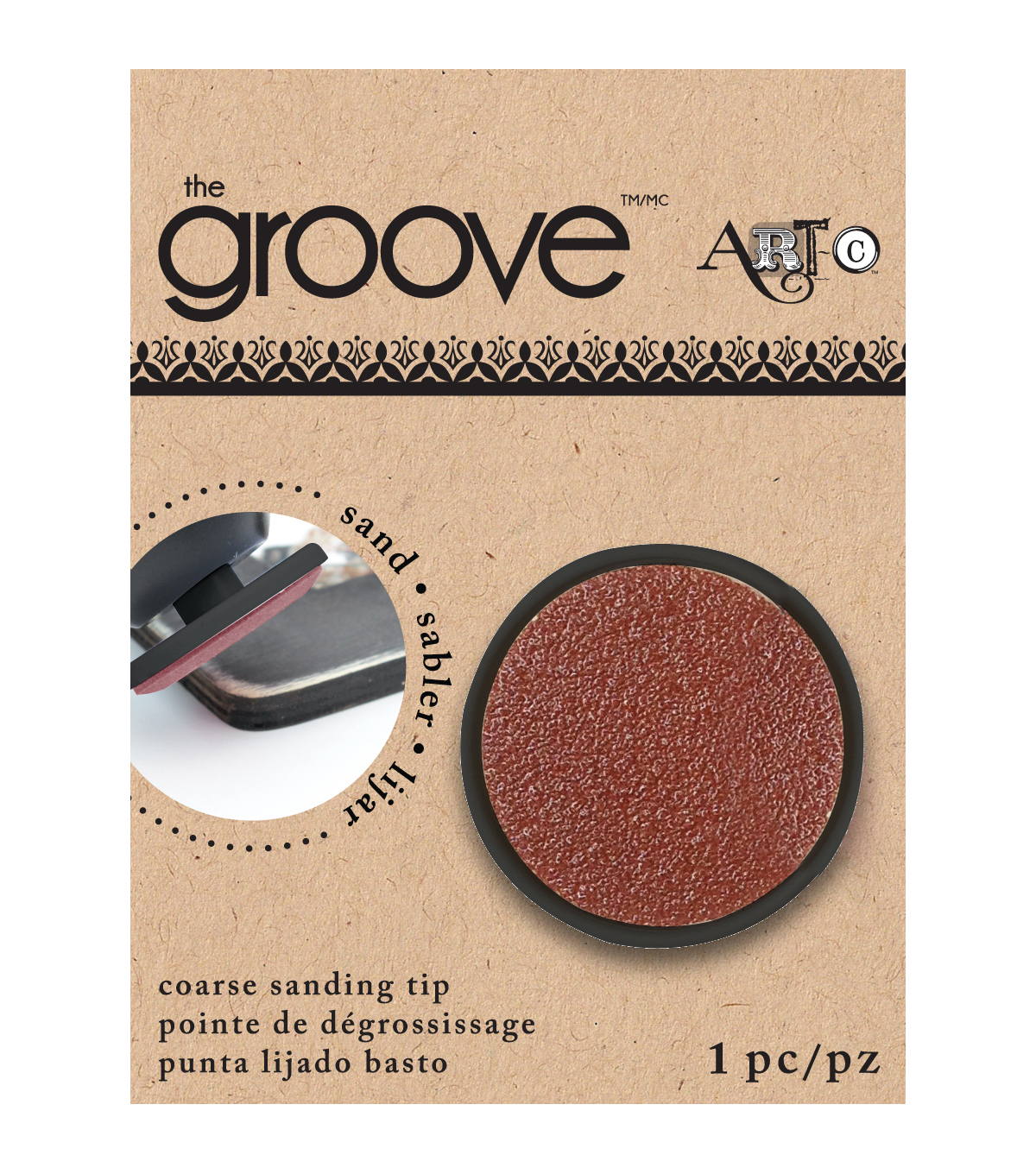 Groove Tool Replacement Tip Coarse Sandpaper