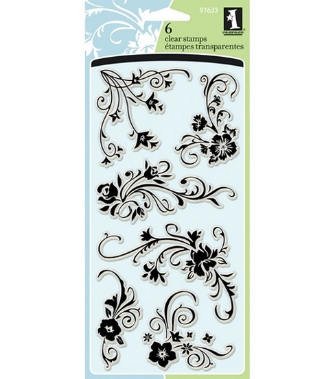 Inkadinkado Clear Stamps-Floral Flourishes