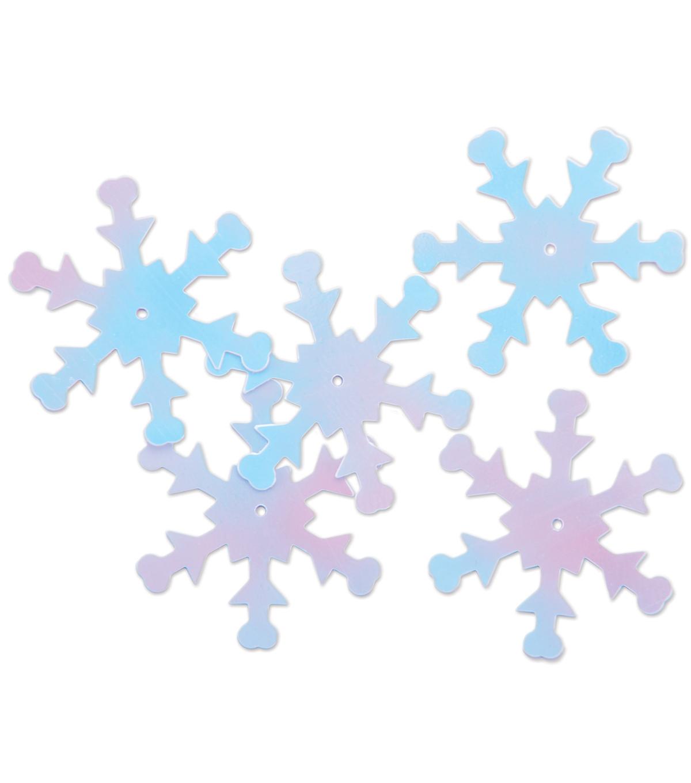 darice snowflake sequins 1