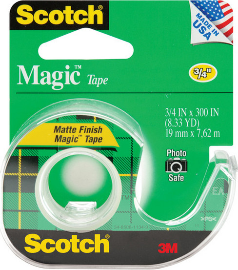 "3M Scotch Magic Tape-3/4""x300""/Matte"