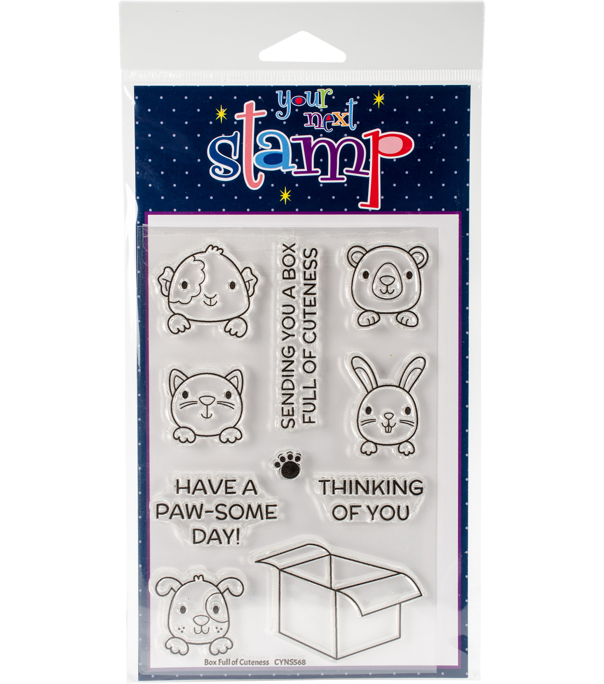 Your Next Stamp 10 pk Clear Stamps-Box Full of Cuteness