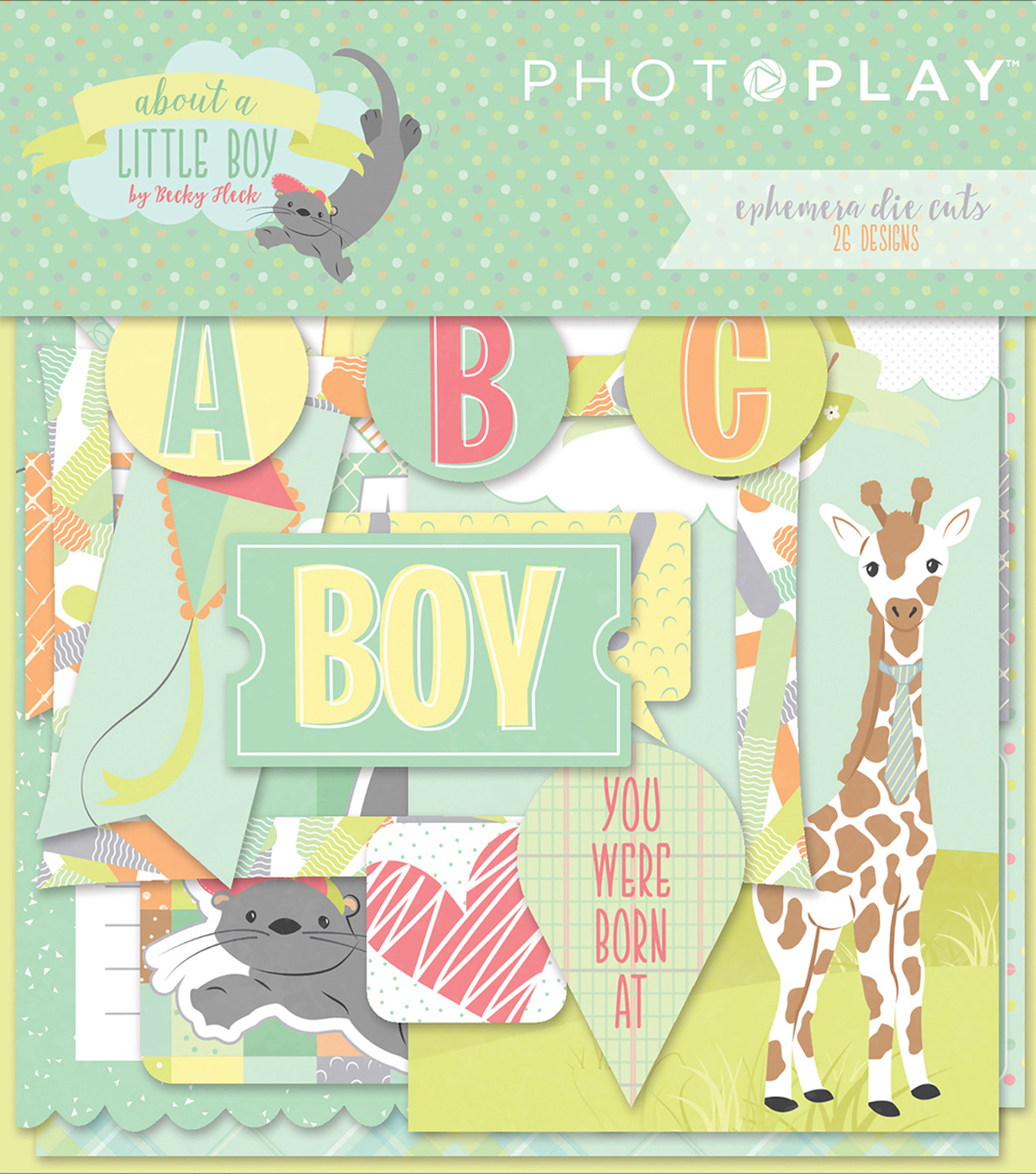 Photo Play Paper Ephemera Cardstock Die-Cuts-About A Little Boy