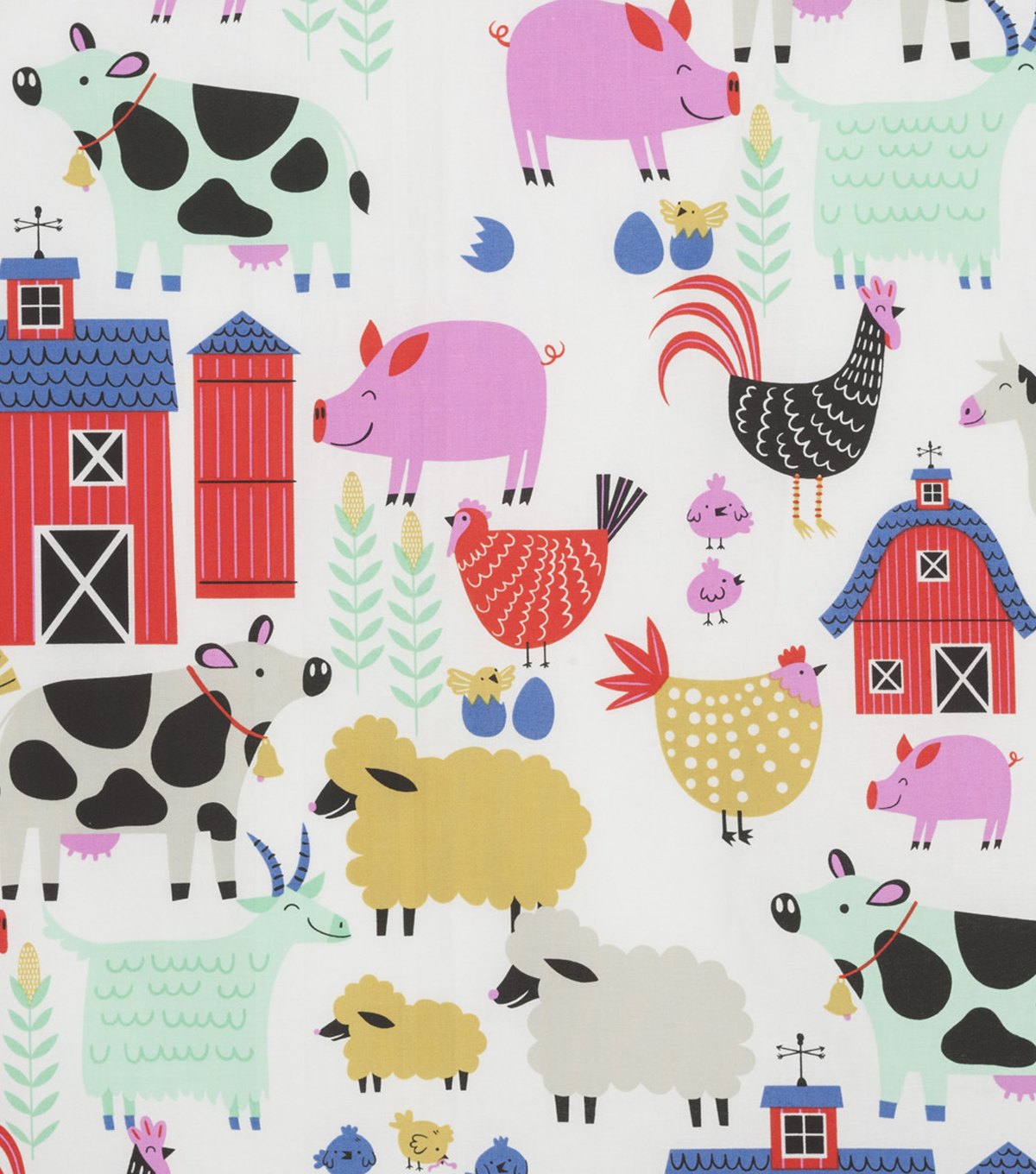 Novelty Cotton Fabric 45\u0022-E-I-E-I-O