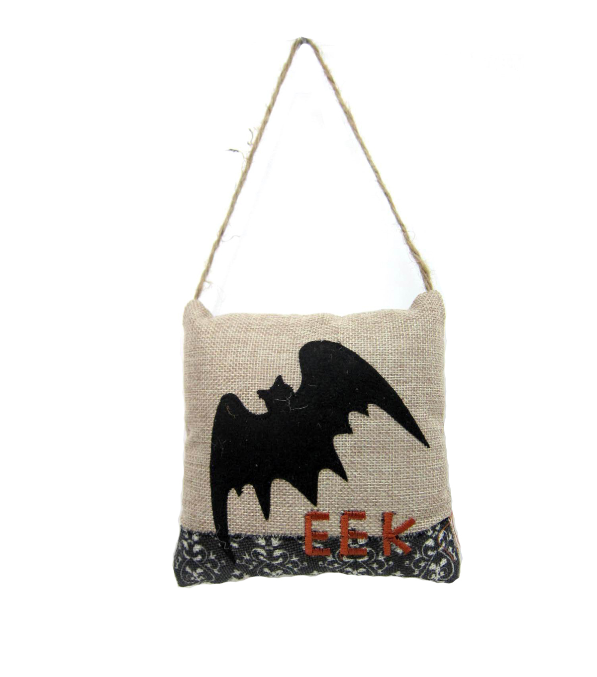 Maker\u0027s Halloween Bat Small Pillow Door Hanger