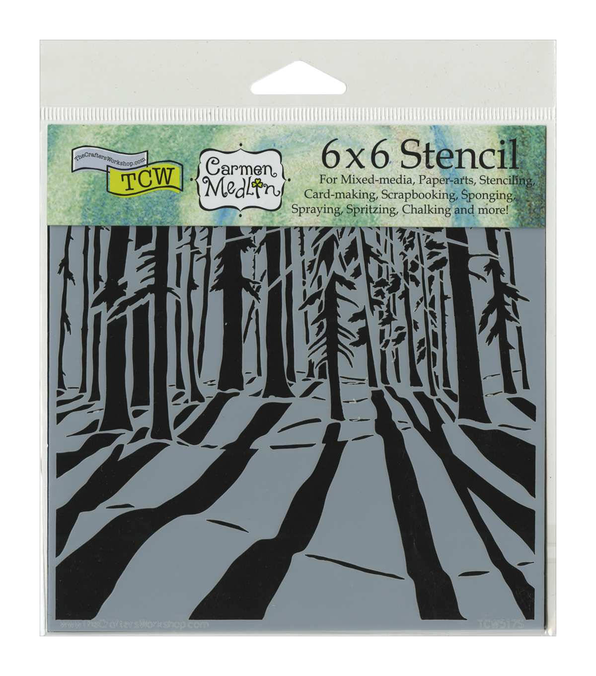 Crafter's Workshop Sunlit Forest Template 6''x6''