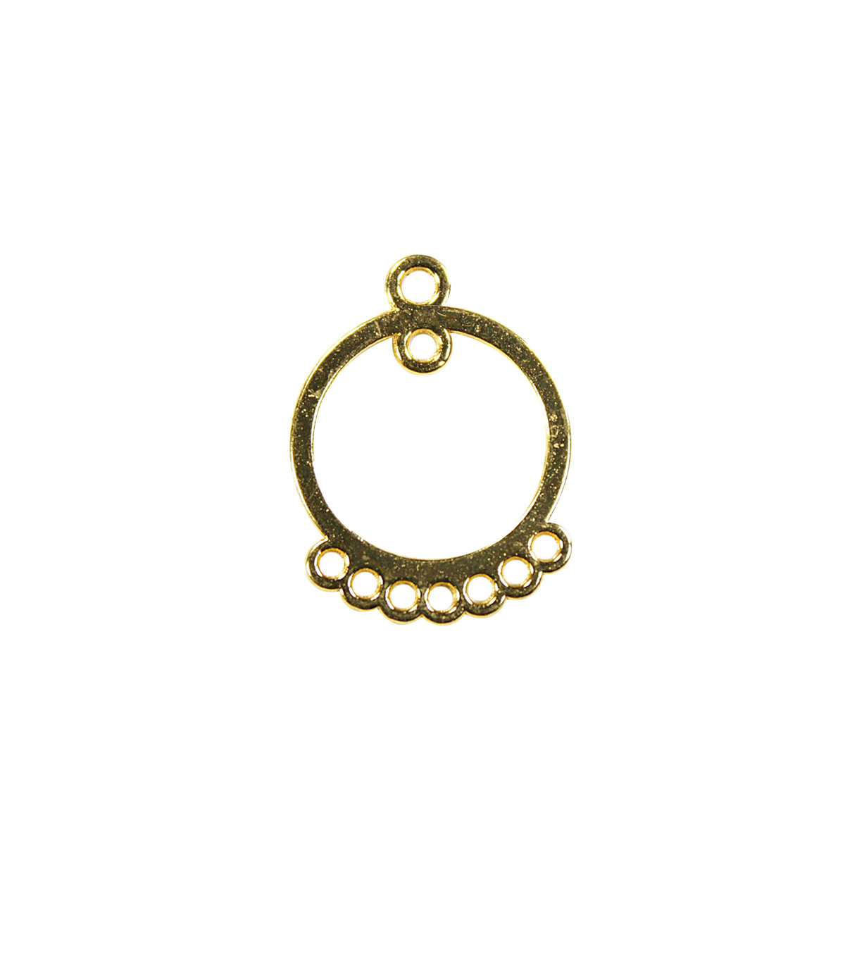 Blue Moon Findings Earring Connector Metal Round Chandelier Gold