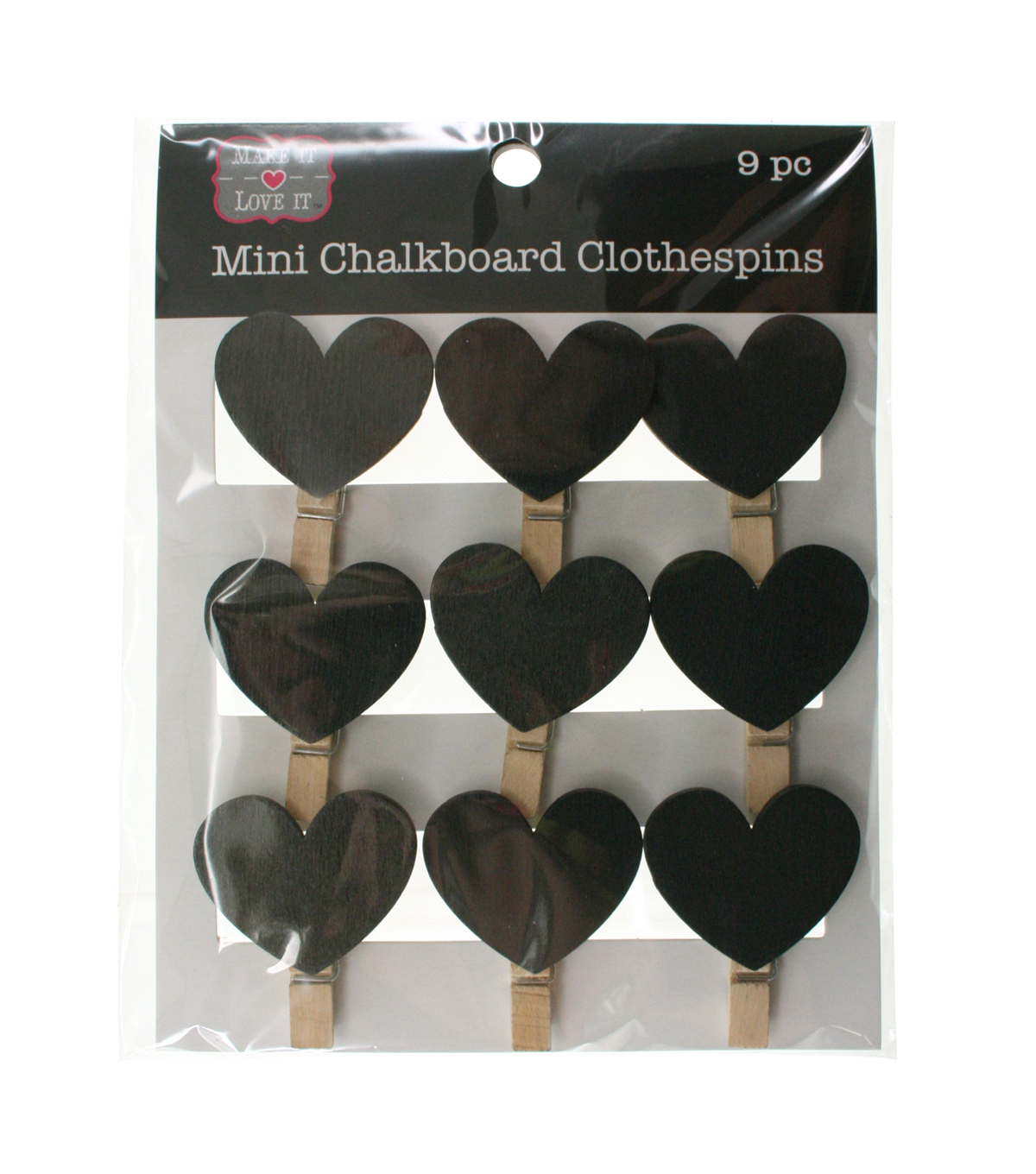 Make It Love It™ Chalkboard Clothespins Hearts