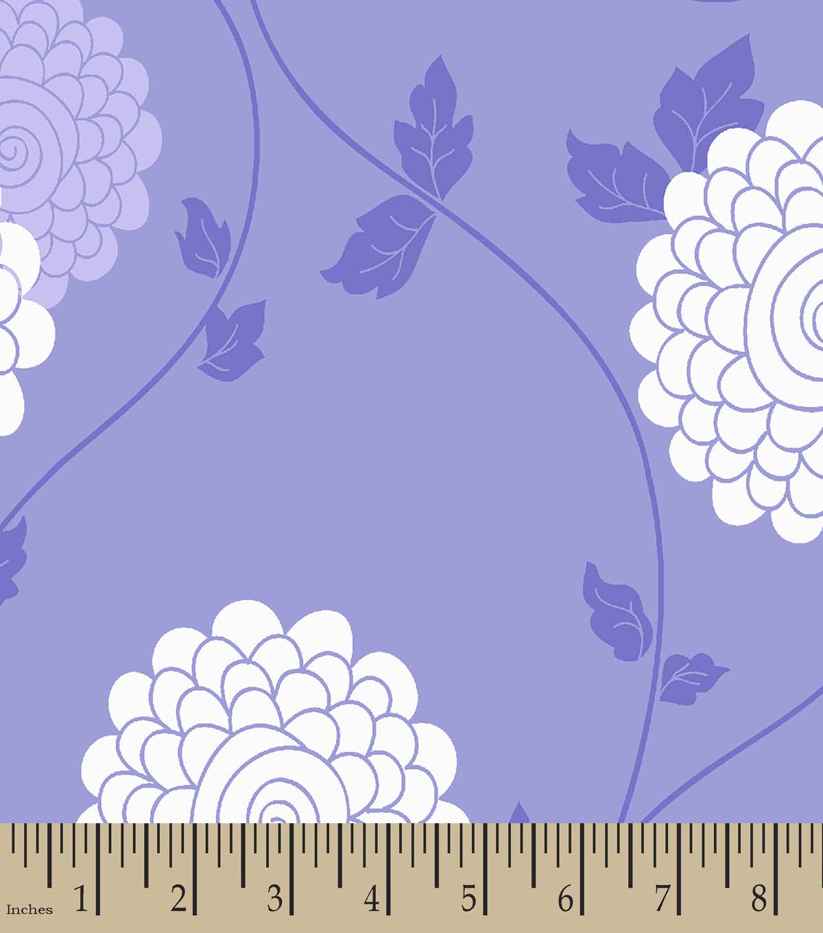 Purple Flowers Print Fabric